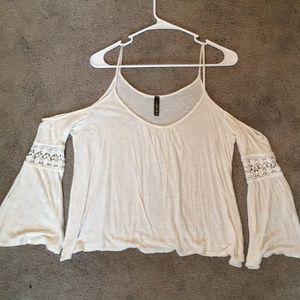 Tops - open-shoulder shirt